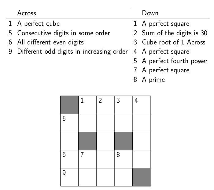 Creating Puzzles \u2013 Page 2 \u2013 Creativity in Mathematics