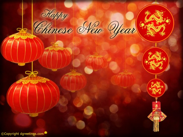 Happy Chinese New Year Its year of dragon. 1024 x 769.Free Chinese New Year Cards
