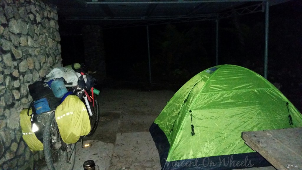 my tent and bike have a roof
