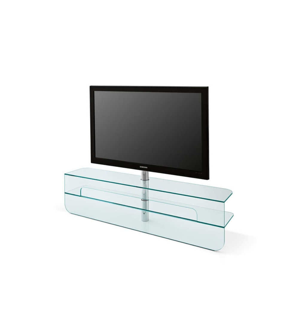 Meuble Tv Design En Verre Meuble Tv Tonelli Design Plasmatik