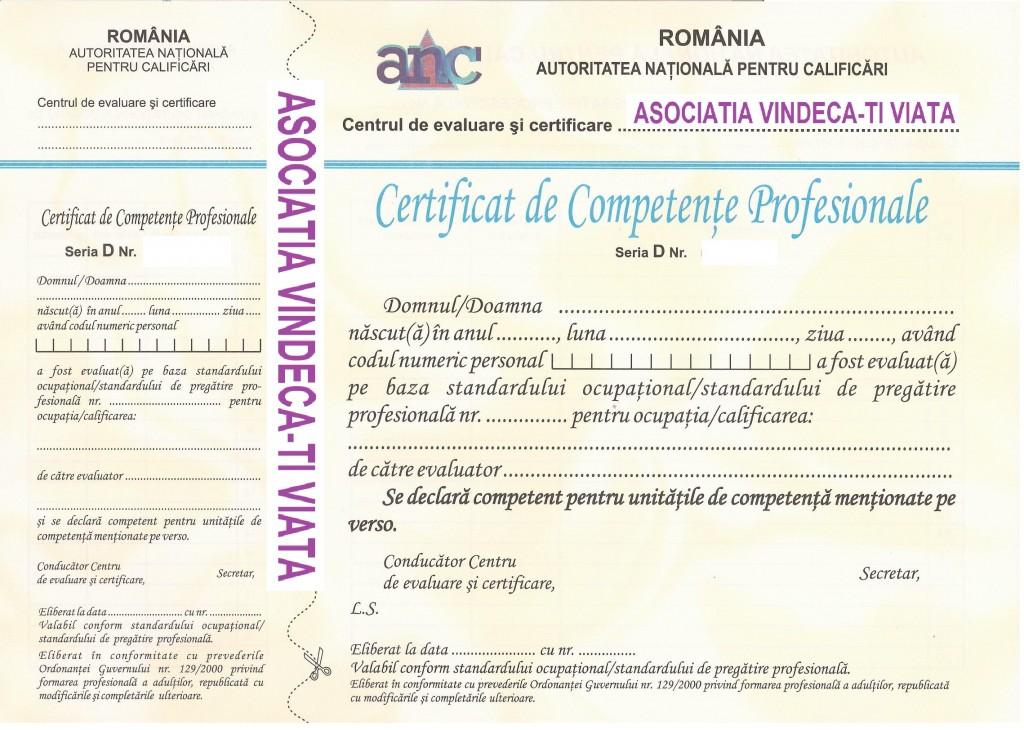 asociația vindecă-ți viața, model certificat, cursuri formare profesională, vindecativiata.ro, București