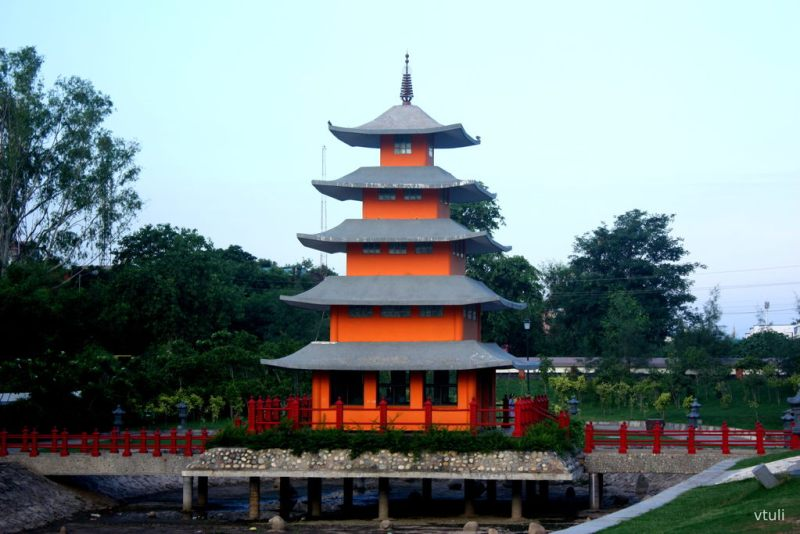 The Pagoda Tower - Japanese Garden Chandigarh