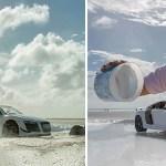 Фотограф создал шикарный снимок автомобиля стоимостью 160 тысяч долларов, воспользовавшись моделькой купленной за 40 баксов.