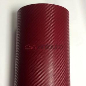 Бордовый карбон 3D, ширина 1.52м.