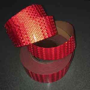 Светоотражающая лента красная (2)