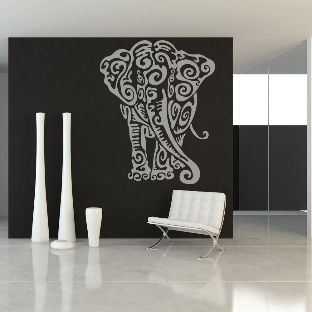Vinilos Decorativos De Elefantes Dctop Sagrado Ganesha Hindú Dios