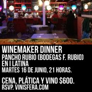 #GDL: Winemaker Dinner: Pancho Rubio en i Latina.