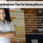 , 9 Small Business Tips for Setting Boundaries