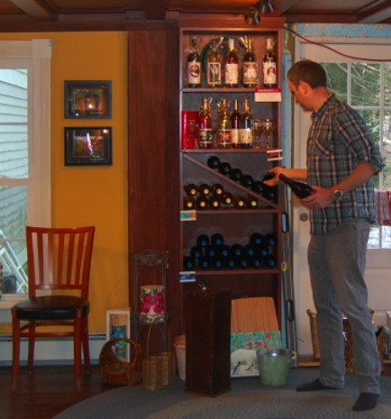 Steve Rogers, member of Diamond Hill's second generation, in the tasting room and gift shop.