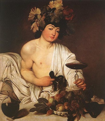 Painting of Bacchus by Caravaggio