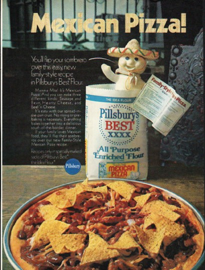 "Sport Aircraft 1976 Pillsbury Vintage Ad ""mexican Pizza"""