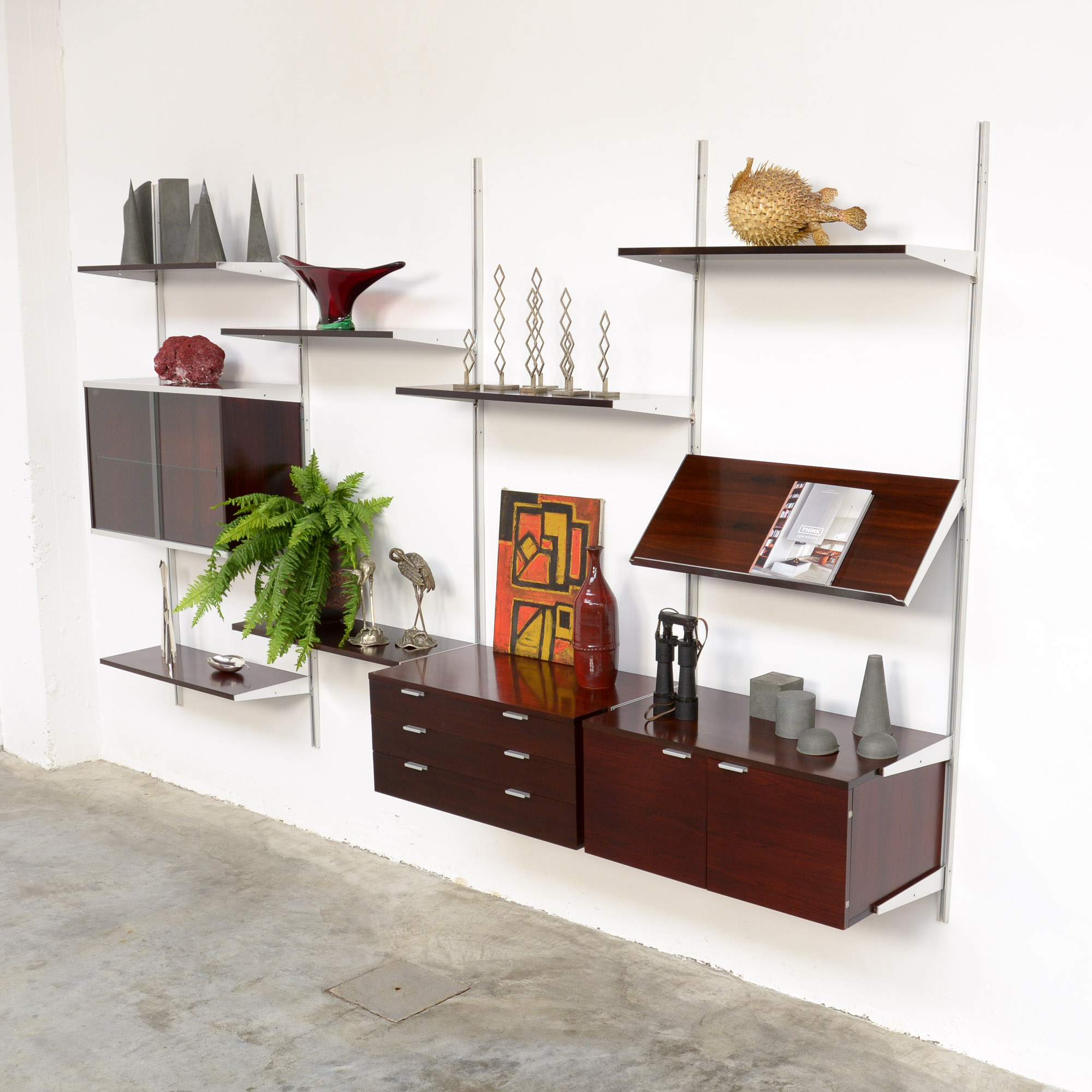 Mobilier De France Impressive Wall Unit By George Nelson For Herman Miller Mobilier