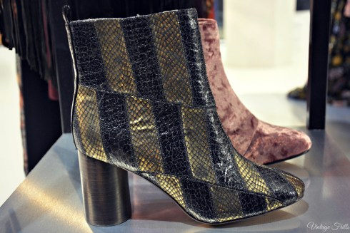 ASOS AW15 Press Day Metallic Snakeskin Ankle Boots