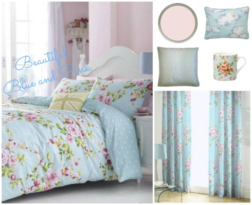Bedroom Wishlist Blue and Pink