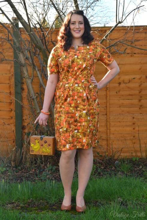 Orange Vintage Wiggle Dress