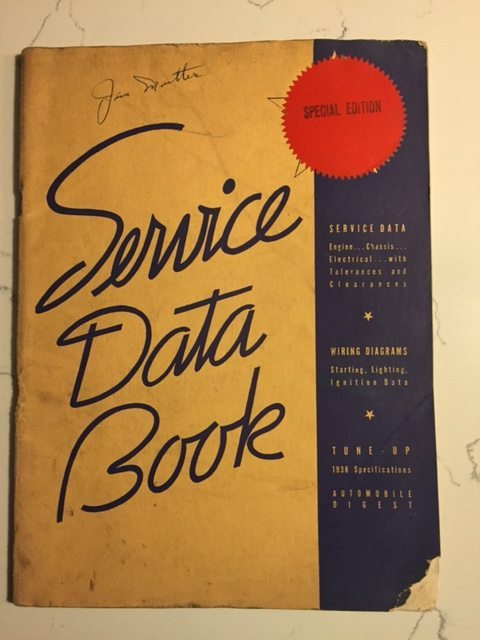 1938 All Models Service Data Book Vintage Ignition