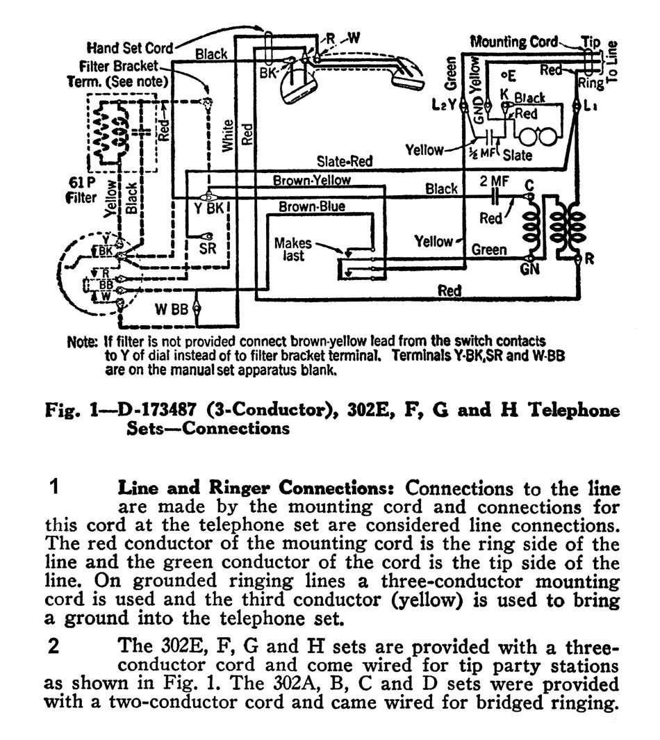 vintage telephone wiring