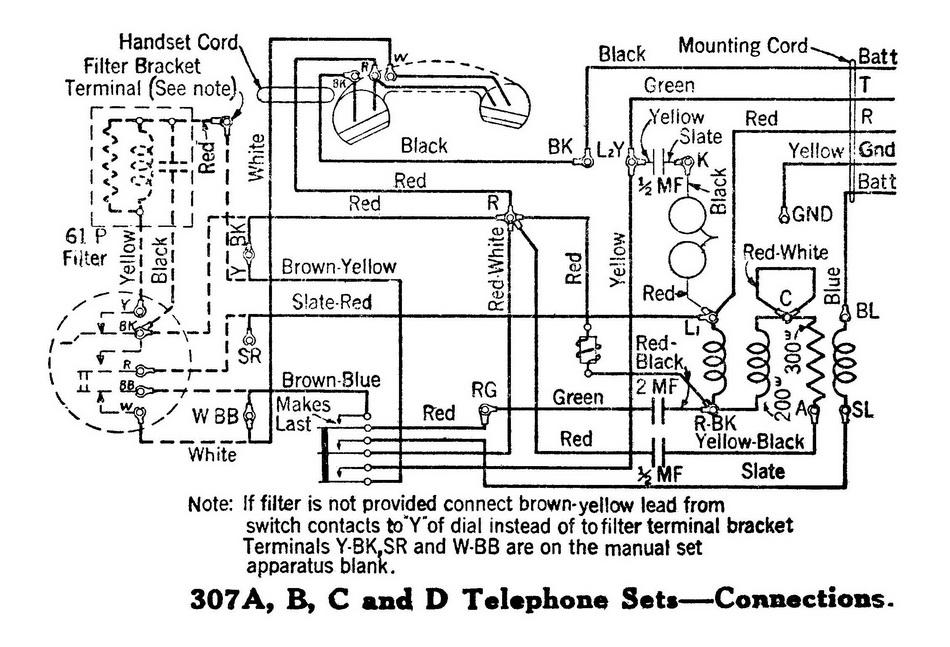 telephone set wiring diagram