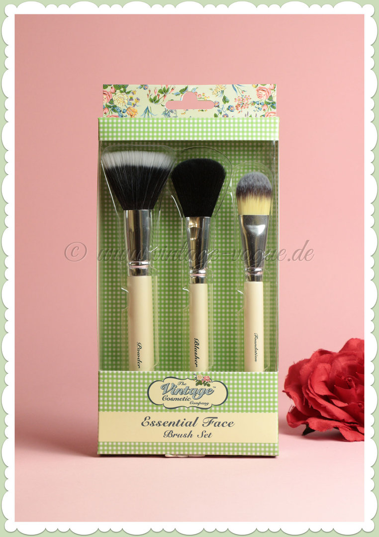 Pinsel Set The Vintage Cosmetics Company Retro Essential Make Up Pinsel Set