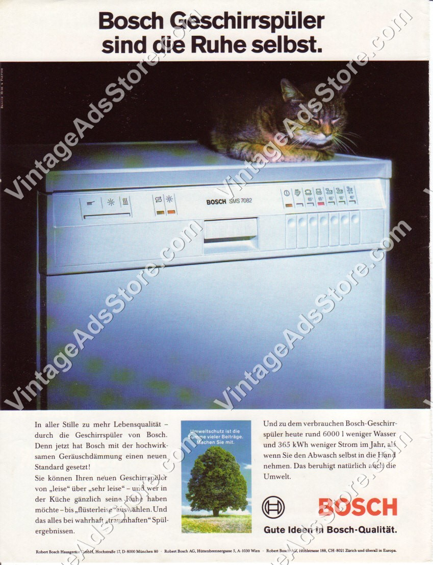 Leiser Geschirrspüler 1992 Bosch Washing Machine Laundry Cat Germany Sms 7082