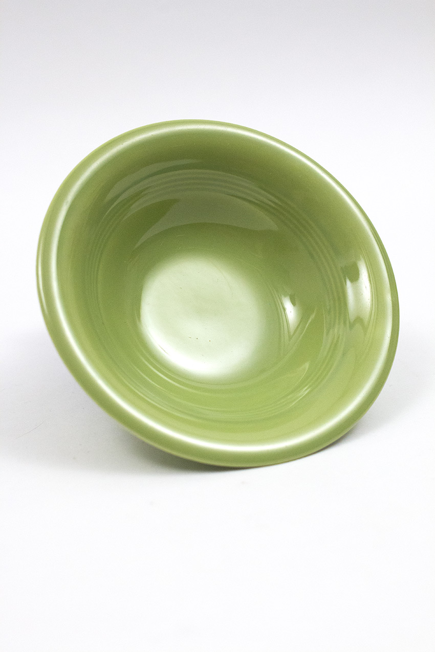 Bowl For Fruit 50s Chartreuse Harlequin Pottery Fruit Bowl