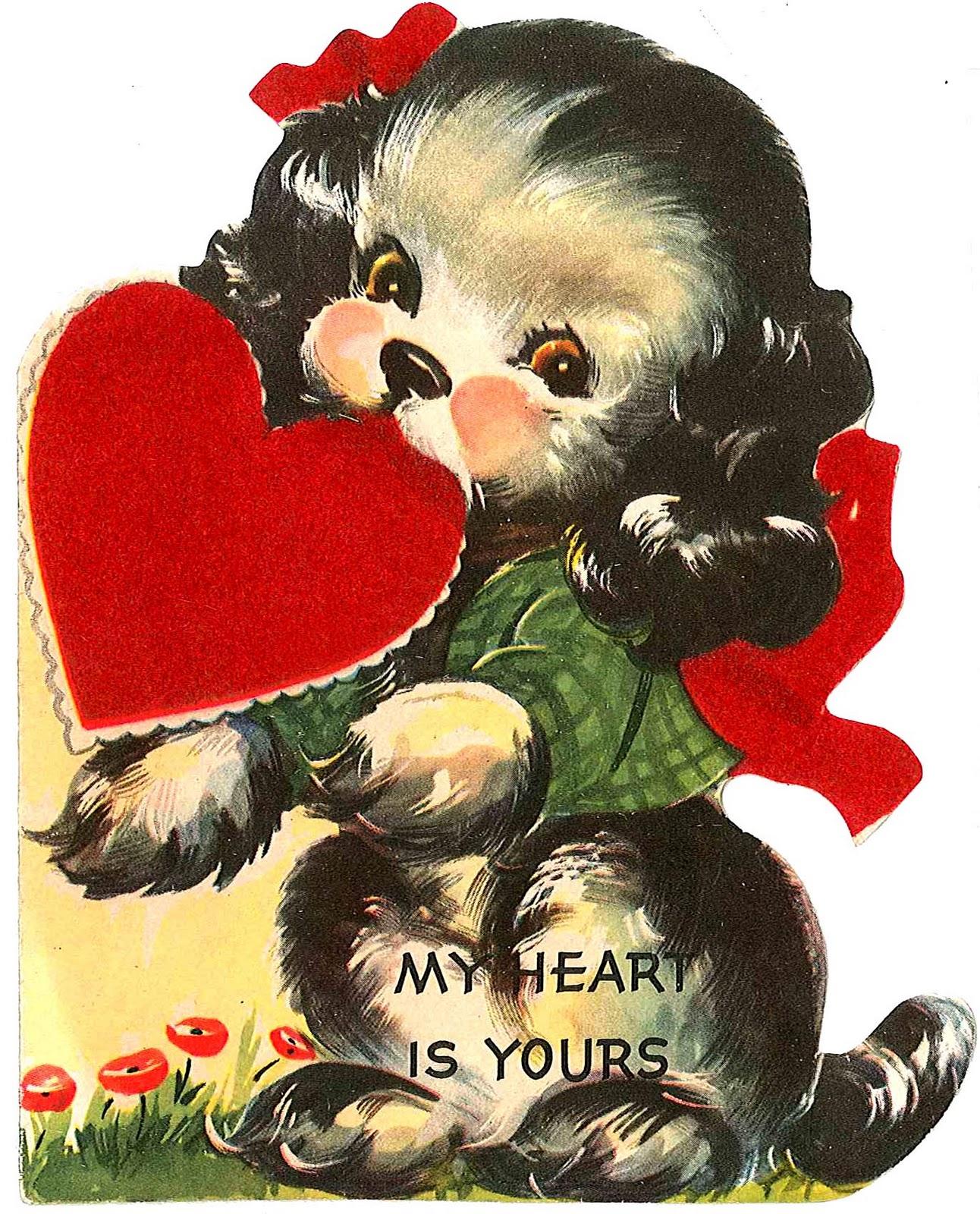 Cute November Calendar Wallpaper Vintage Valentine Cards Vintage Everyday