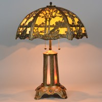 Panel Lamp with Lighted Base and Overlay Shade - Vintage ...