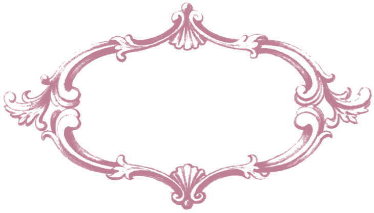 Free Vintage Clip Art Fancy Frame Colored Images Oh So
