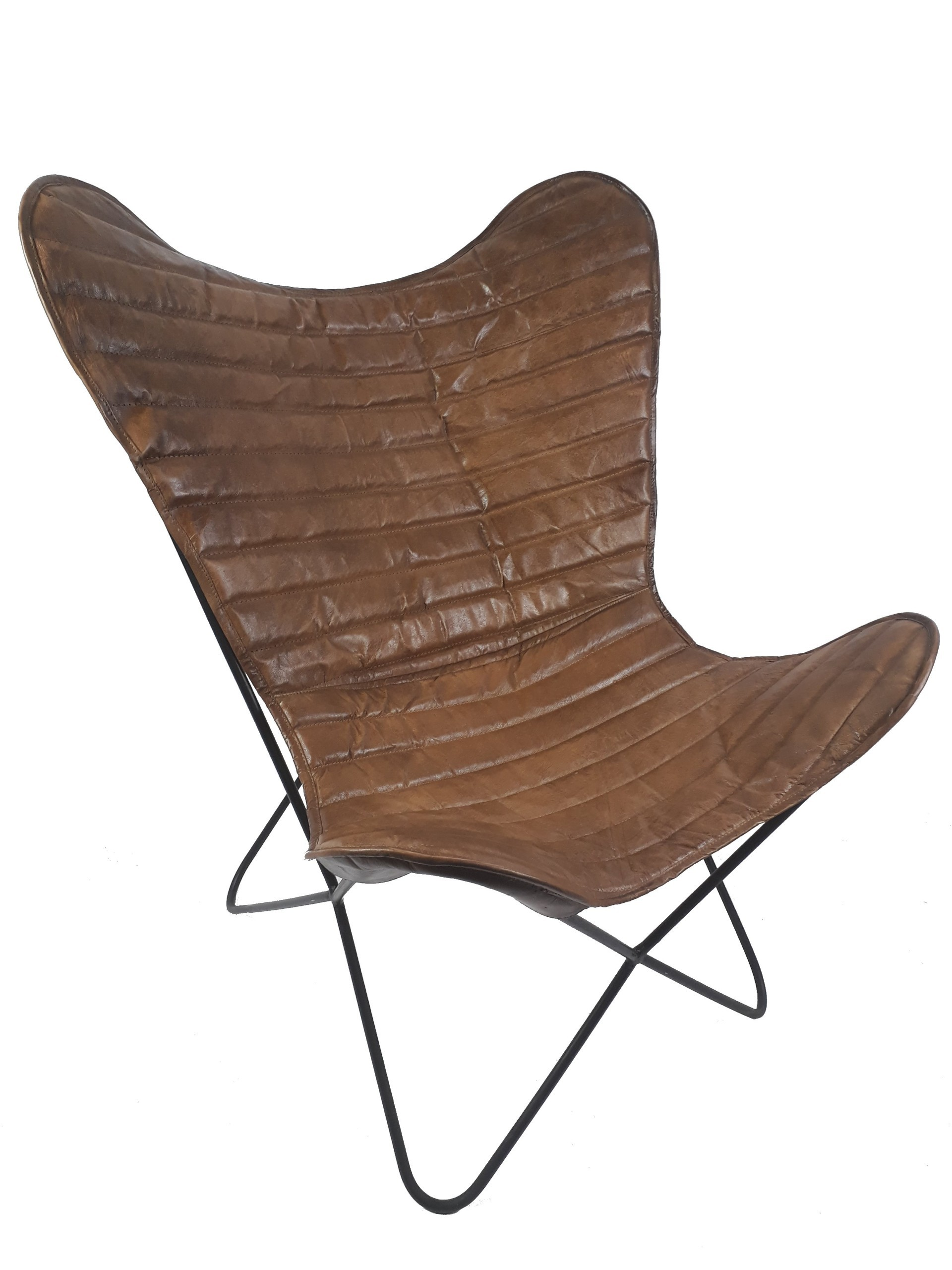 Saunaliege Rattan Vintage Sessel Butterfly Eco Leder Loungesessel