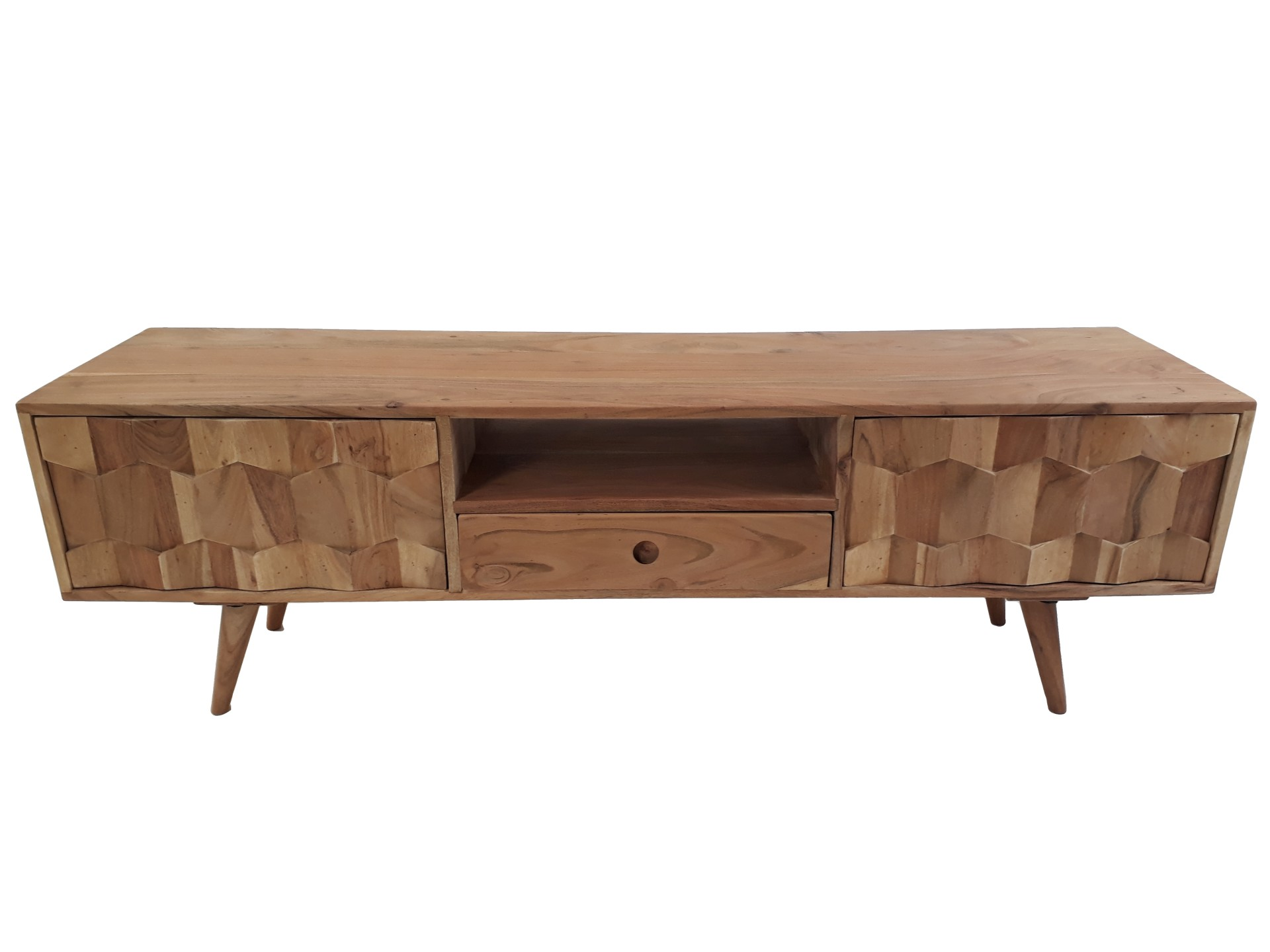 Design Kommode Pinario Aus Akazie Massivholz Tv Board Sideboard Massivholz Retro Design Honeycomb