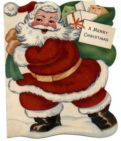 Free Vintage Santa Claus Kids Christmas Cards - Vintage Holiday Crafts
