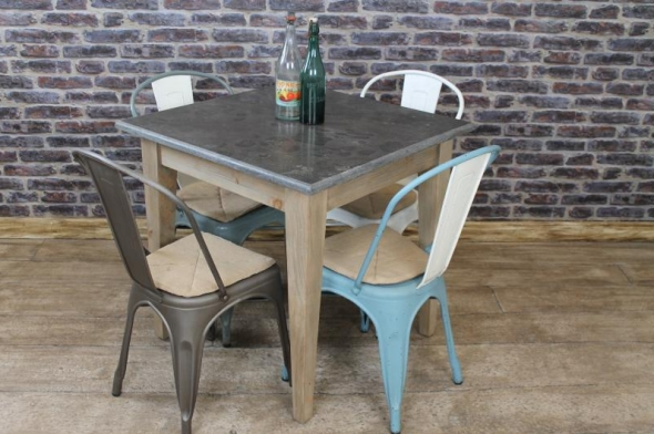 SQUARE STONE TOP CAFE RESTAURANT TABLES - Vintage ...