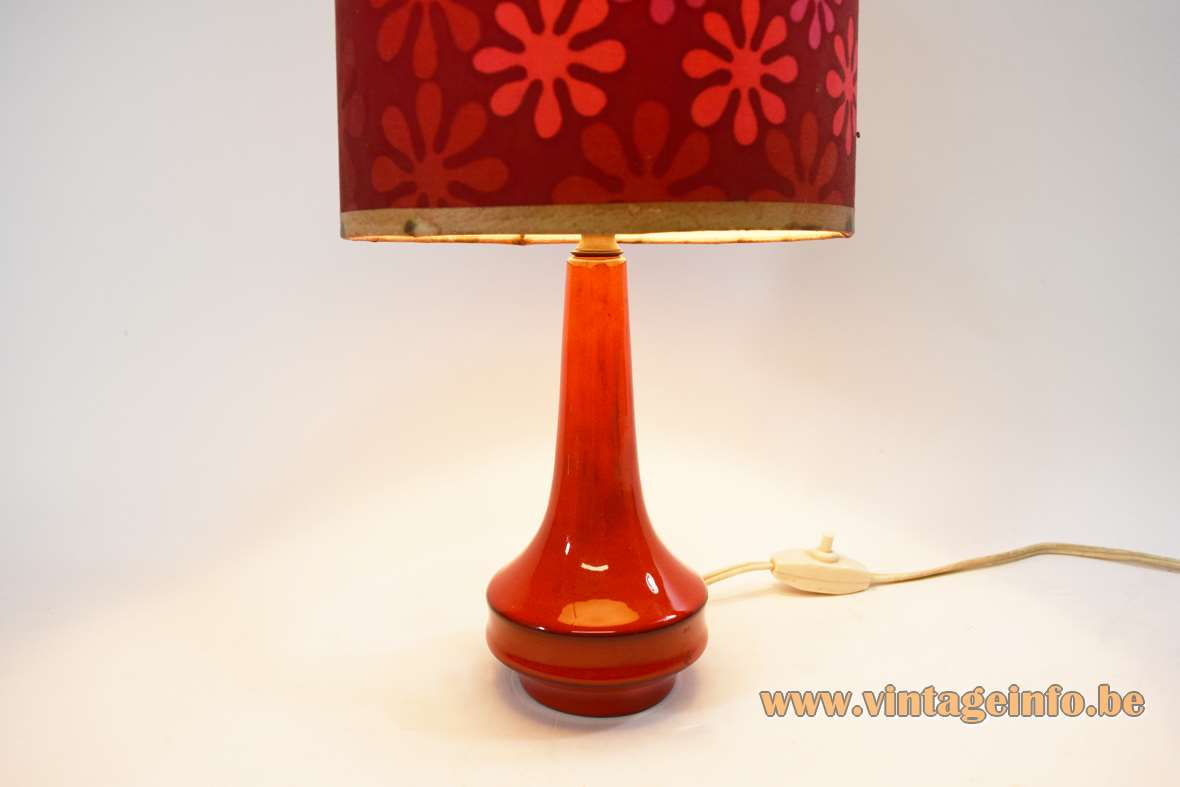Red And White Table Lamp 1960s Red Ceramic Table Lamp Vintage Info All About