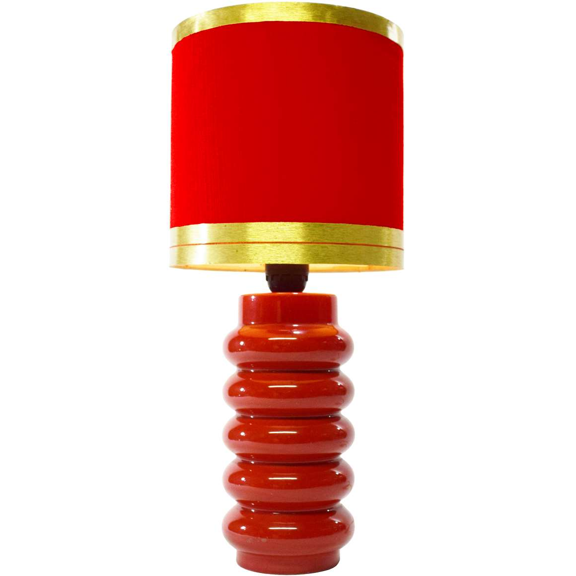 Red And White Table Lamp 1970s Red Table Lamp Vintage Info All About Vintage