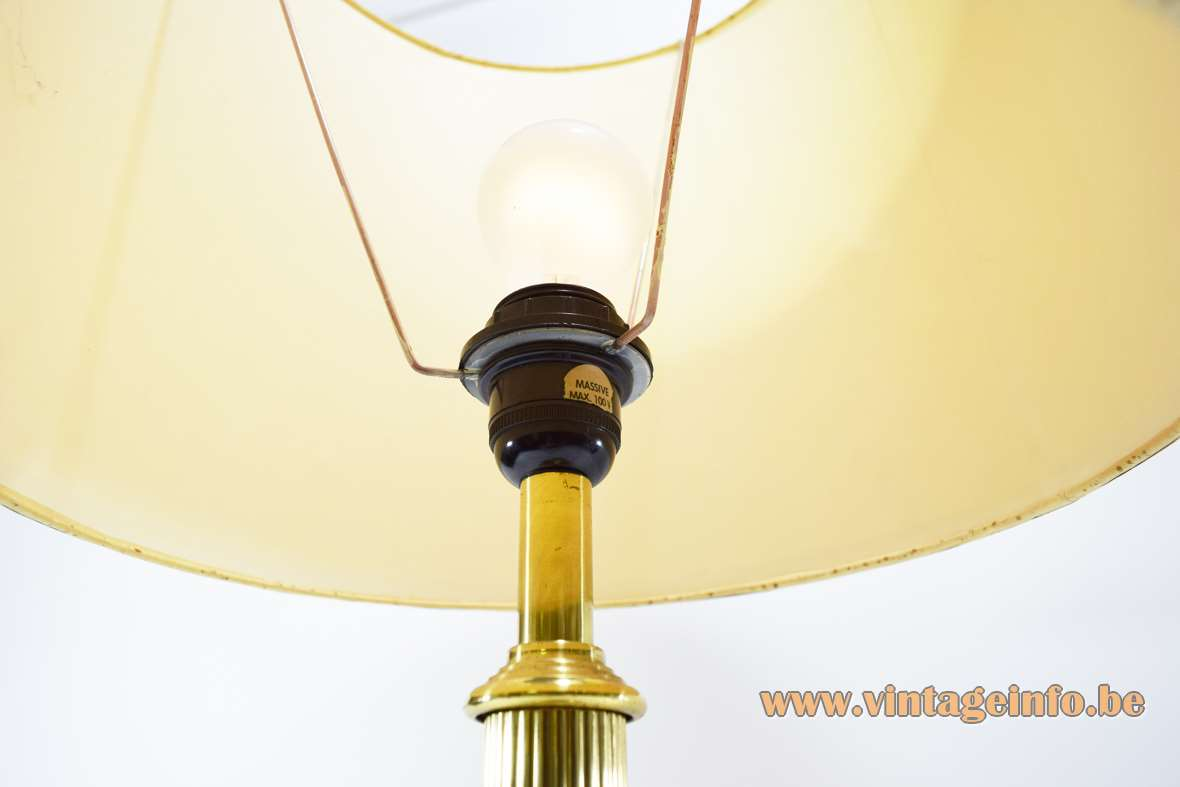 Philips Lamp Wikipedia 1970s Massive Belgium Brass Table Lamp –vintage Info – All
