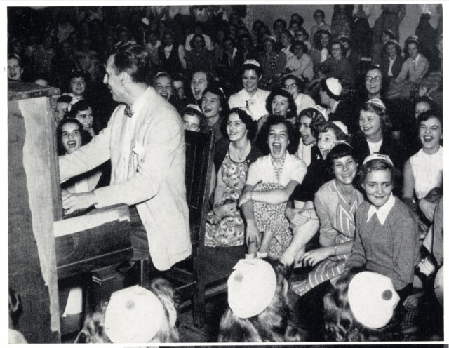 1940s college life band playing