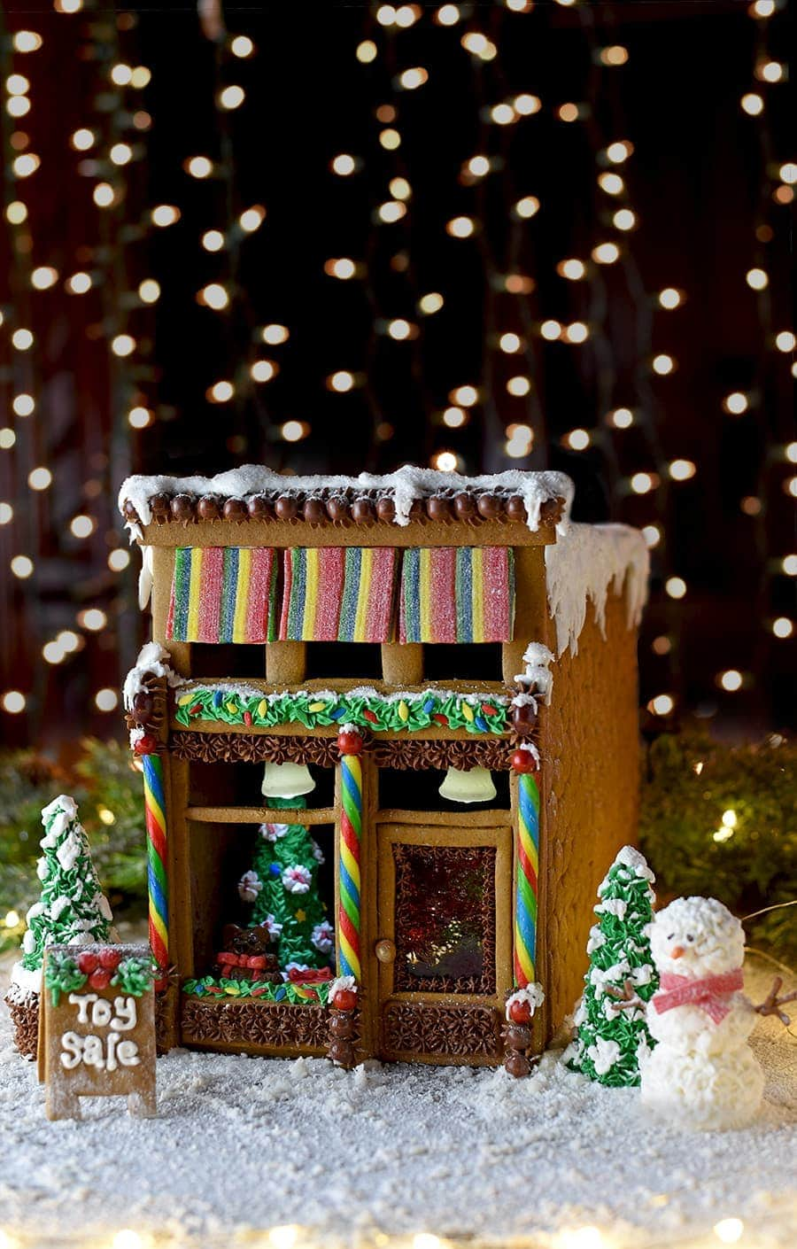 Superb F Our Victorian Storefront Gingerbread House Brings Magic A Historicdowntown To Your Victorian Storefront Gingerbread House Template Vintage Kitty decor Gingerbread House Decorations