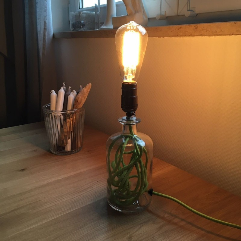 Lampen Fassungen Upcycling Glas Flaschen Lampe, Upcycling Bottle Lamp
