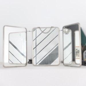 Miroir de barbier triptyque vintage magic - Miroir triptyque de barbier ...