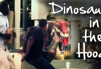 Dinosaur In The Hood Prank