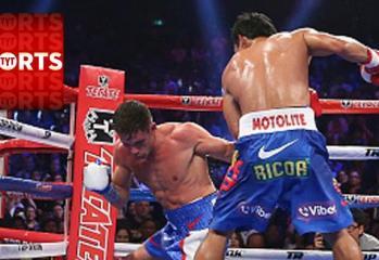 Manny Pacquiao Knocks Down Chris Algieri