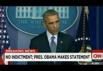 Obama Calls On Nation To Accept Ferguson Decision & Protest Peacefully