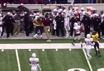 Texas A&M Coach Hits WVU Player Twice