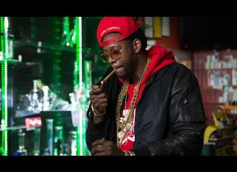 2 Chainz Smokes A 24K Gold-Covered Joint