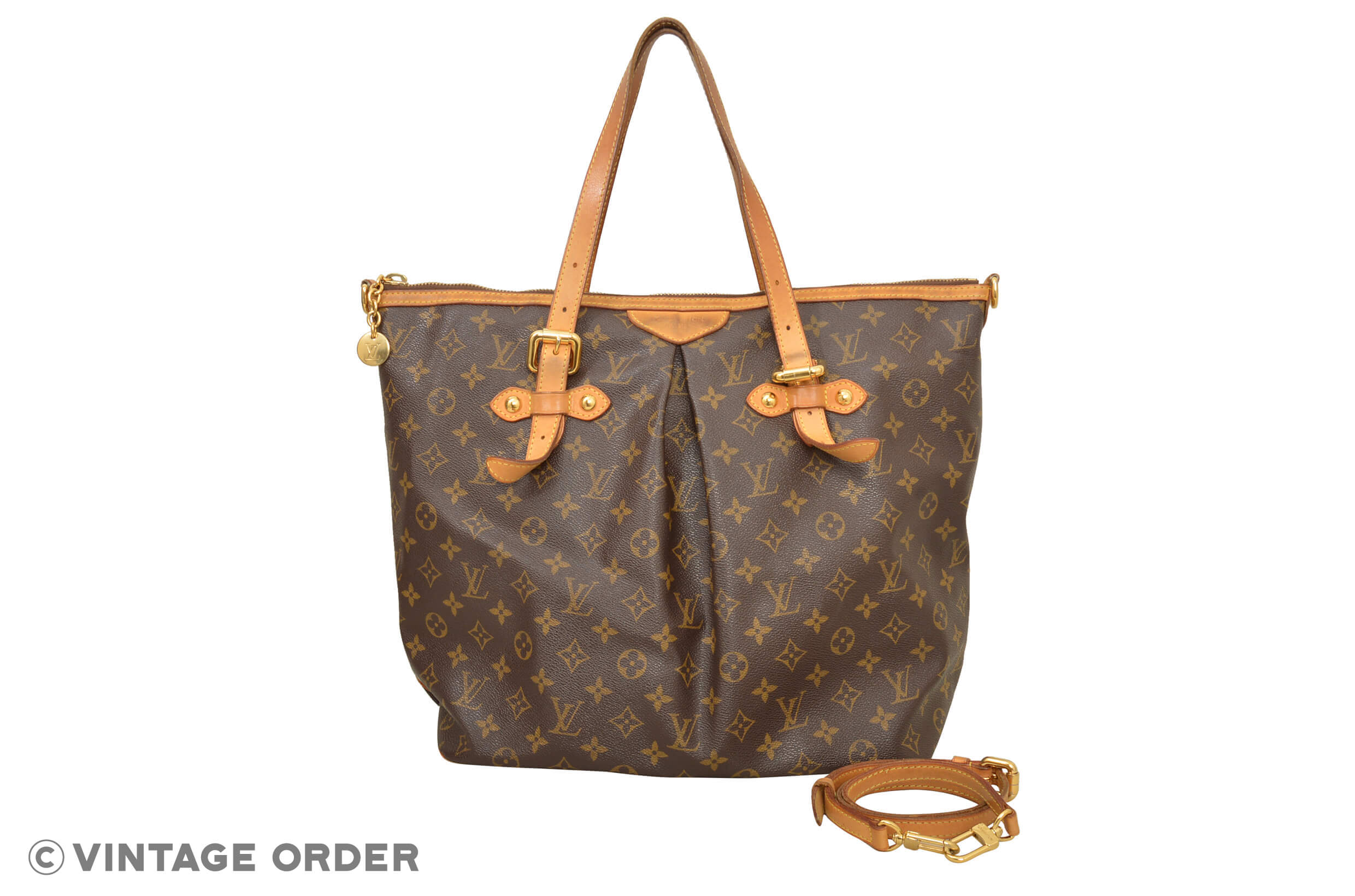 Louis Vuitton Tivoli Vs Palermo Louis Vuitton Monogram Palermo Gm Bolso De Hombro M40146 E00192 Ebay