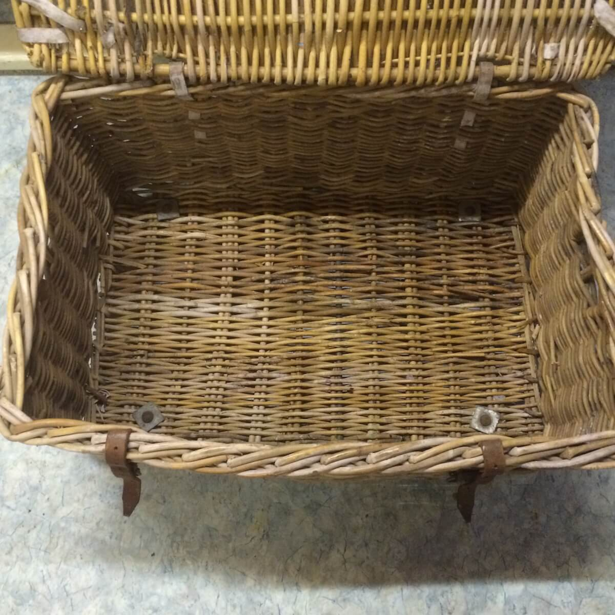 Wicker Laundry Baskets Old Wicker Laundry Basket Vintage Pine Etc Ltd
