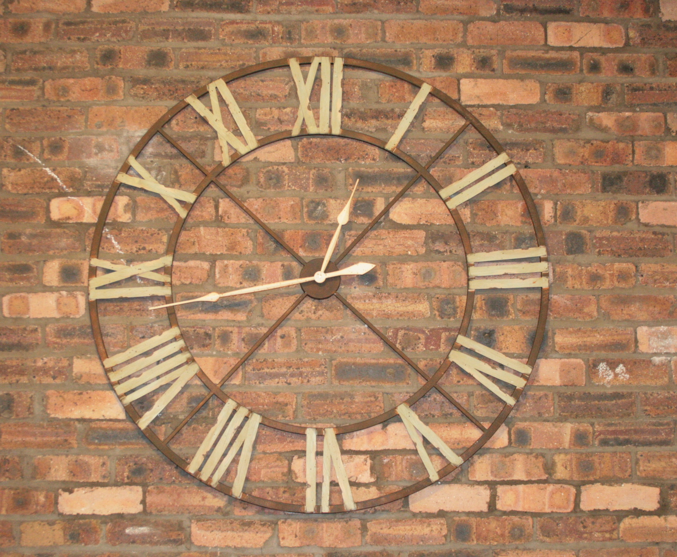 Big Clocks For Wall Large Iron Wall Clock With Roman Numerals Vintage