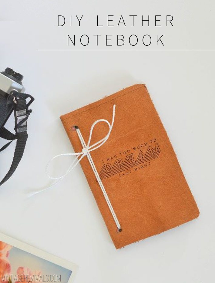 DIY Leather Notebook u2022 Vintage Revivals - notebook paper word template