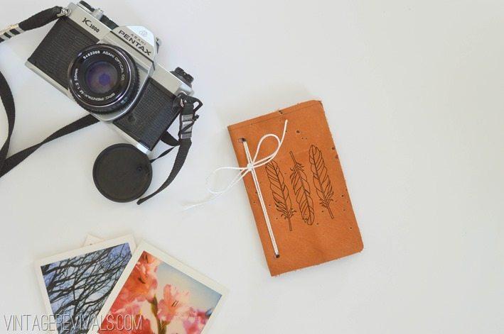 DIY Leather Notebook u2022 Vintage Revivals - notebook paper word template