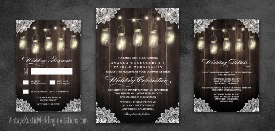 Home - Vintage Rustic Wedding Invitations - rustic wedding invitation